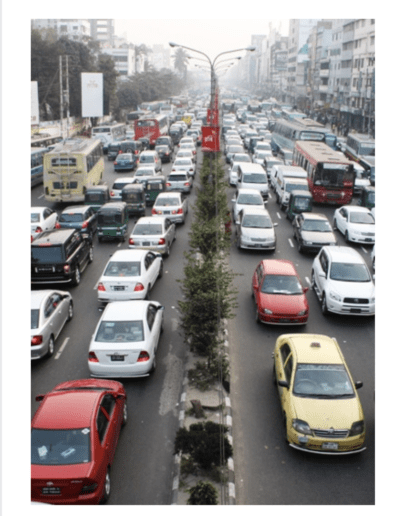 Traffic in Dhaka