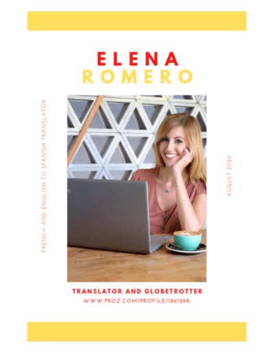 Elena Romero - Translator and Globetrotter