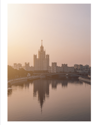 Image of sunrise over Moscow